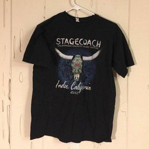 ALSTYLE SOLID BLACK Stagecoach GRAPHIC T-SHIRT